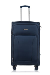 Champs 3-Piece Travelers Softside Luggage Set - Navy - Back