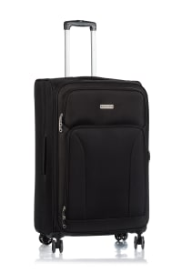 Champs 3-Piece Travelers Softside Luggage Set - Black - Back