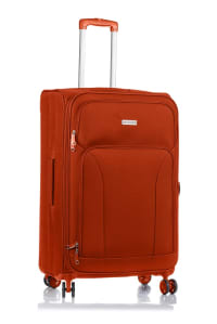 Champs 3-Piece Travelers Softside Luggage Set - Orange - Back