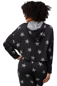 Star Printed Hoodie Jogger Set Pajama Set - Back