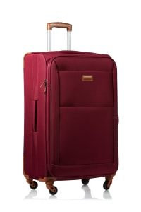 Champs 3-Piece Classic Softside Luggage Set - Red - Back