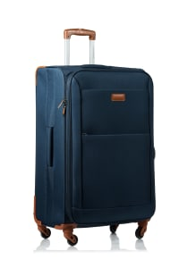 Champs 3-Piece Classic Softside Luggage Set - Navy - Back