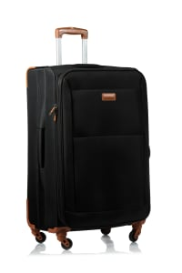 Champs 3-Piece Classic Softside Luggage Set - Black - Back