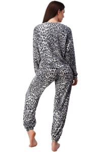Leopard Animal Printed Jogger Set Lounge Wear Set - Back