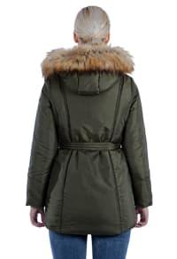 Modern Eternity - Rachel 3-in-1 Maternity Coat - Khaki Green - Back