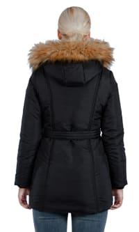 Modern Eternity - Rachel 3-in-1 Maternity Coat - Black - Back