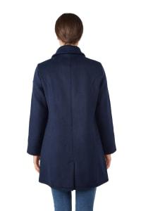 Modern Eternity Khloe 3-in-1 Wool Maternity Coat Semi-Fitted - Navy - Back