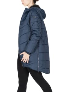 Modern Eternity Harper 3-in-1 Maternity Coat Cocoon Mid Thigh - Navy - Back