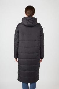 Modern Eternity Penelope 3-in-1 Long Puffer Maternity Coat - Black - Back