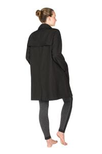 Modern Eternity - Avelynne 3 in 1 Maternity Twill Trench Coat - Black - Back