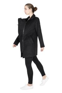 Modern Eternity Khloe 3-in-1 Wool Maternity Coat Semi-Fitted - Black - Back