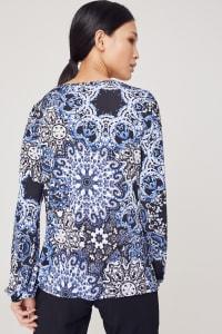 Westport Medallion Print Knit Top - Back