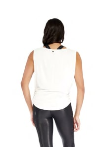 Side Tie Top - White - Back