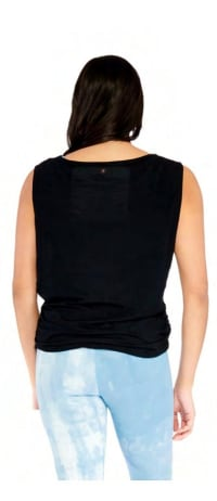 Side Tie Top - Black - Back