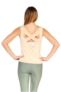 X Electric Tank Top - Nude - Back