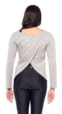 Mind Over Matter Long Sleeve Top - Heather Grey - Back