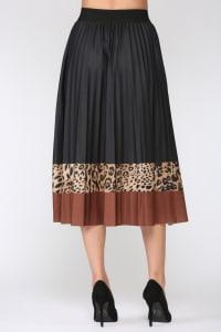 Winsley Animal Print Skirt - Black Leopard - Back