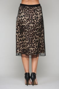Winnie Animal Print Skirt - Back