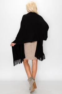 Cashmere Scarves - Black - Back