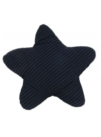 Blue with White 3D Shape Star Pillow - Blue - Back