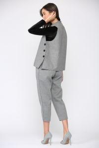 Felecia Knit Vest - Gray - Back