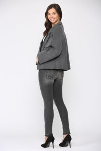Fannie Jacket - Charcoal - Back