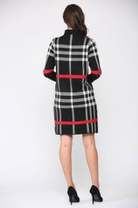 Shayla Dress - Black plaid - Back
