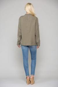 Talia Jacket - Olive - Back