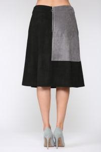 Alexandra Skirt - Gray / Black - Back