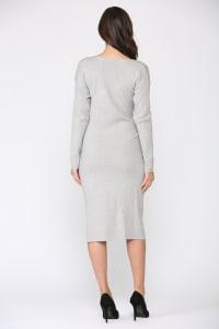 Shay Dress - Gray - Back