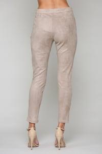 Ariel Pants with Zipper - Khaki - Back