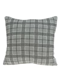 Gray Small Square Plaid Pillow Cover - Back