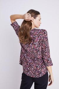 Roz & Ali Multi Color Dot Pintuck Popover - Multi - Back