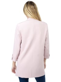 26 International Crepe Blazer with Roll Tab Sleeves - Back