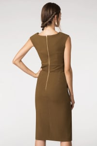 Rust Closet Tie Front Dress - Back