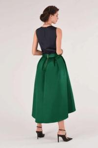 Green High Low Skirt - Back