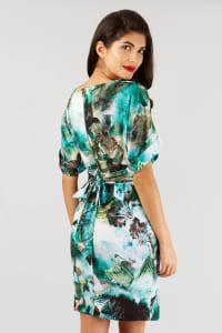 Multi Closet Kimono Wiggle Dress - Back