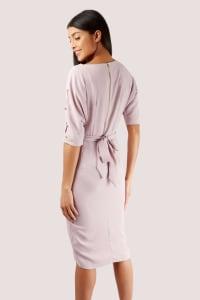 Closet Button Sleeve Kimono Dress - Back