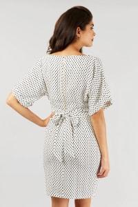 Black and White Closet Kimono Dress - Back