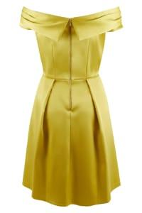 Yellow Closet Gold Off the Shoulder Dress - Back
