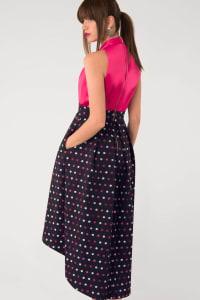 CLOSET GOLD Halter Neck Polka Dot 2-in-1 Dress - Back