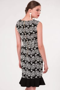 Black Pep - Hem Pencil Dress - Back