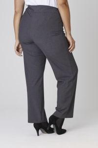 Roz & Ali Secret Agent Pull On Tummy Control Pants - Tall Length - Plus - Grey - Back