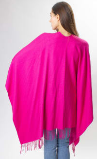 So Soft Ruana With Silver Studs - Back