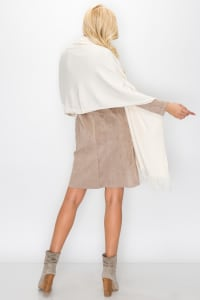Cashmere Scarves - Cream - Back
