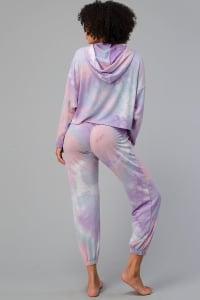 Tie Dye Hooded Sweatshirts Jogger Lounge Wear Set - Back