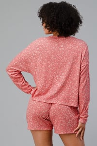Ditsy Floral Short Loungewear Set - Back