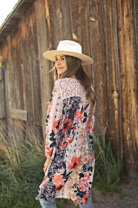 Mix Media Floral Tunic - Misses - Back