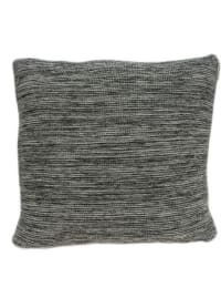 Casual Square Heather Gray Accent Pillow Cover - Grey - Back