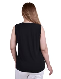 Sleeveless Grommeted Top - Plus - Back